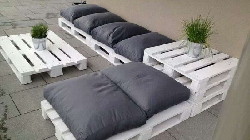 Pallet Bank Kussens : Diy pallet loungebank
