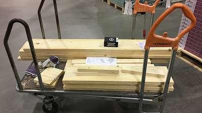 gezaagd steigerhout