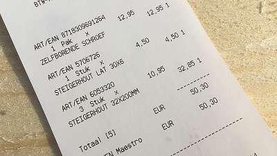 wat kost steigerhout