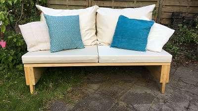 Loungebank 150 sierkussens ibiza blauw